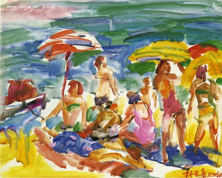 水彩,水彩画,水彩作品,水彩画作品,全国首届小幅水彩画展作品选(4)