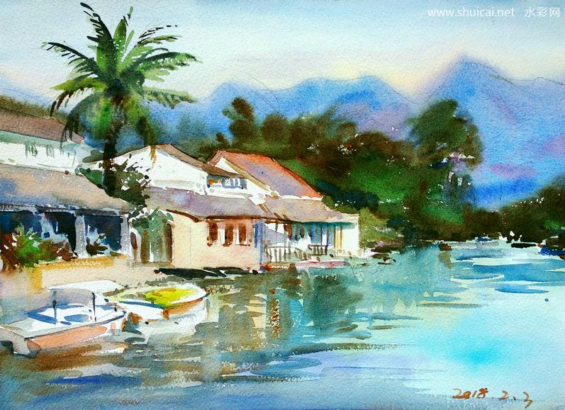 水彩,水彩画,原创水彩,水彩作品,水彩画作品,祈一,祈一水彩,祈一水彩画